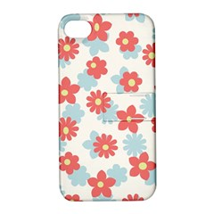 Flower Pink Apple iPhone 4/4S Hardshell Case with Stand