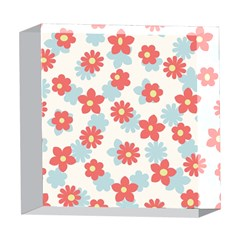 Flower Pink 5  x 5  Acrylic Photo Blocks