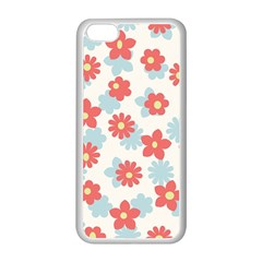 Flower Pink Apple iPhone 5C Seamless Case (White)