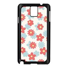 Flower Pink Samsung Galaxy Note 3 N9005 Case (Black)