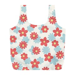 Flower Pink Full Print Recycle Bags (L)