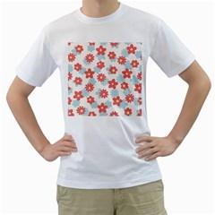 Flower Pink Men s T-Shirt (White)