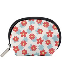 Flower Pink Accessory Pouches (Small)