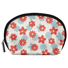 Flower Pink Accessory Pouches (Large)