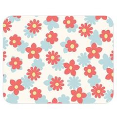 Flower Pink Double Sided Flano Blanket (Medium)