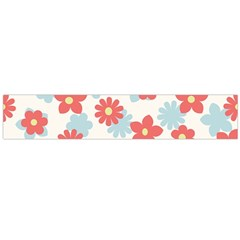 Flower Pink Flano Scarf (Large)