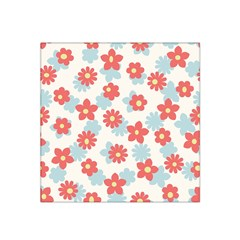 Flower Pink Satin Bandana Scarf