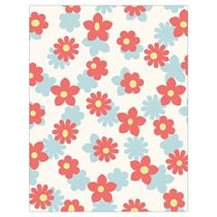 Flower Pink Drawstring Bag (Large)