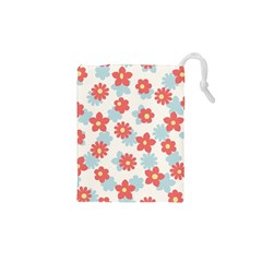 Flower Pink Drawstring Pouches (XS)