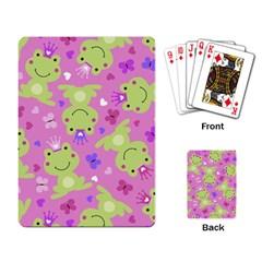 Frog Princes Playing Card