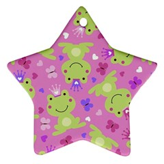 Frog Princes Star Ornament (Two Sides)