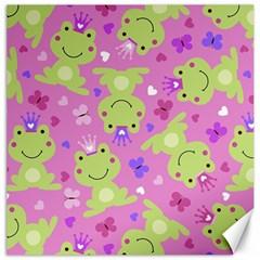 Frog Princes Canvas 12  x 12