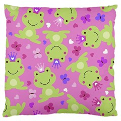 Frog Princes Large Cushion Case (One Side)