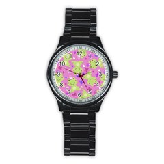 Frog Princes Stainless Steel Round Watch