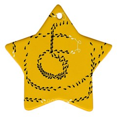 Yellow Soles Of The Feet Ornament (Star)