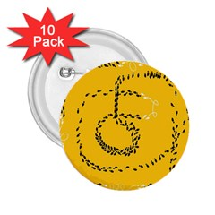 Yellow Soles Of The Feet 2.25  Buttons (10 pack)