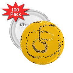 Yellow Soles Of The Feet 2.25  Buttons (100 pack)