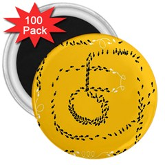 Yellow Soles Of The Feet 3  Magnets (100 pack)