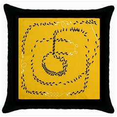 Yellow Soles Of The Feet Throw Pillow Case (Black)