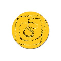 Yellow Soles Of The Feet Magnet 3  (Round)