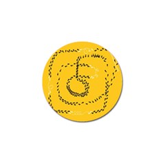 Yellow Soles Of The Feet Golf Ball Marker (4 pack)