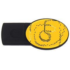 Yellow Soles Of The Feet USB Flash Drive Oval (1 GB)
