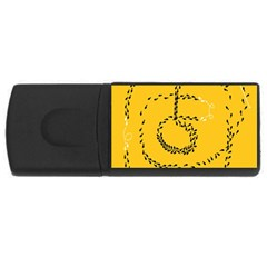 Yellow Soles Of The Feet USB Flash Drive Rectangular (2 GB)