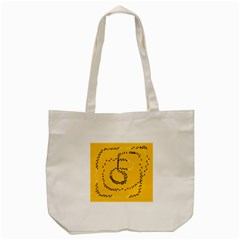 Yellow Soles Of The Feet Tote Bag (Cream)
