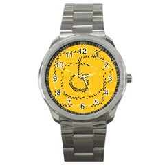 Yellow Soles Of The Feet Sport Metal Watch