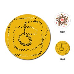 Yellow Soles Of The Feet Playing Cards (Round)