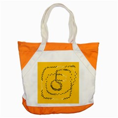 Yellow Soles Of The Feet Accent Tote Bag