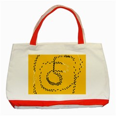 Yellow Soles Of The Feet Classic Tote Bag (Red)