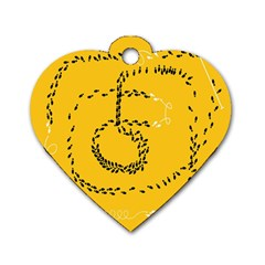 Yellow Soles Of The Feet Dog Tag Heart (One Side)