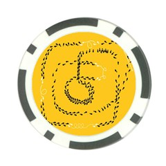 Yellow Soles Of The Feet Poker Chip Card Guards (10 pack)