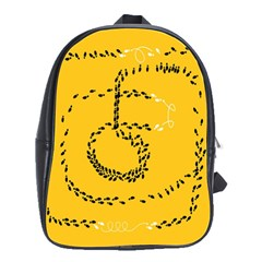 Yellow Soles Of The Feet School Bags(Large)