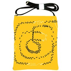 Yellow Soles Of The Feet Shoulder Sling Bags