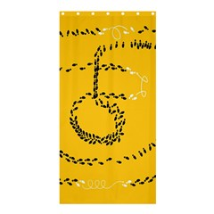 Yellow Soles Of The Feet Shower Curtain 36  x 72  (Stall)