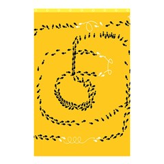 Yellow Soles Of The Feet Shower Curtain 48  x 72  (Small)