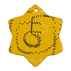 Yellow Soles Of The Feet Snowflake Ornament (2-Side)