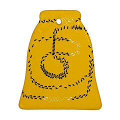 Yellow Soles Of The Feet Bell Ornament (2 Sides)