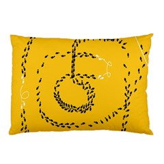 Yellow Soles Of The Feet Pillow Case (Two Sides)