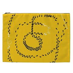 Yellow Soles Of The Feet Cosmetic Bag (XXL)