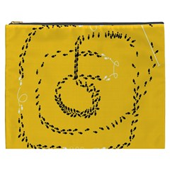 Yellow Soles Of The Feet Cosmetic Bag (XXXL)