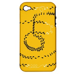Yellow Soles Of The Feet Apple iPhone 4/4S Hardshell Case (PC+Silicone)