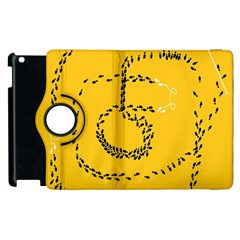 Yellow Soles Of The Feet Apple iPad 3/4 Flip 360 Case