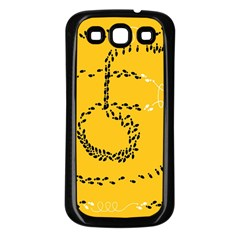 Yellow Soles Of The Feet Samsung Galaxy S3 Back Case (Black)