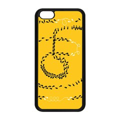 Yellow Soles Of The Feet Apple iPhone 5C Seamless Case (Black)