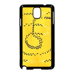 Yellow Soles Of The Feet Samsung Galaxy Note 3 Neo Hardshell Case (Black)