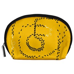 Yellow Soles Of The Feet Accessory Pouches (Large)