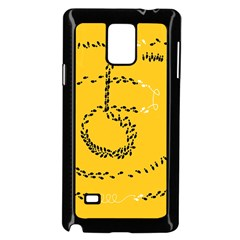 Yellow Soles Of The Feet Samsung Galaxy Note 4 Case (Black)